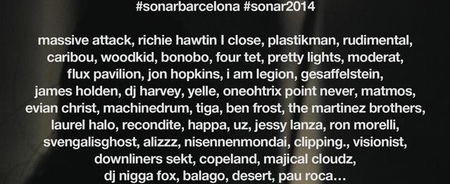 Sónar 2014 añade más artistas a su cartel