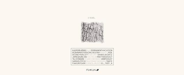 Fiakun compila lo mejor de su catálogo por su 3º Aniversario