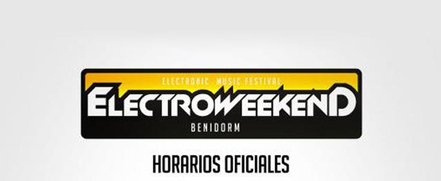 Electro Weekend, cambio de recinto y horarios oficiales