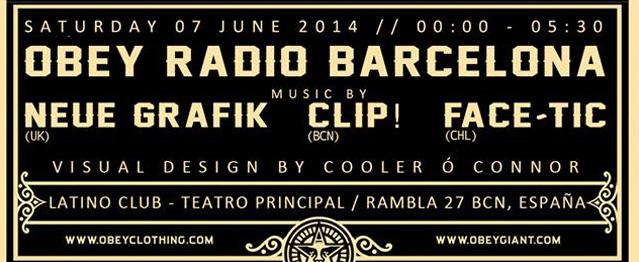 OBEY Radio vuelve a Barcelona y trae a Neue Grafik