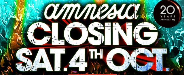 Amnesia Ibiza presenta su Closing Fiesta
