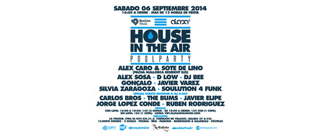 House In The Air, la Pool Party de Alma Soul Music y Bee Live World