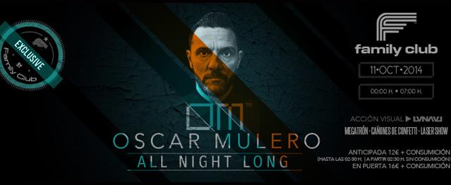 Óscar Mulero ofrecerá un set de 7 horas en Family