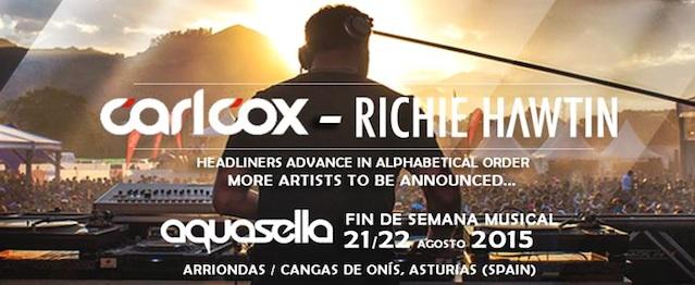 Aquasella anuncia a Carl Cox y Richie Hawtin