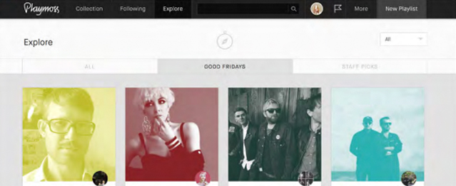 Las playlists imposibles de Playmoss estrenan web y app