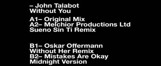 Oskar Offermann y Thomas Melchior remezclan a Talabot