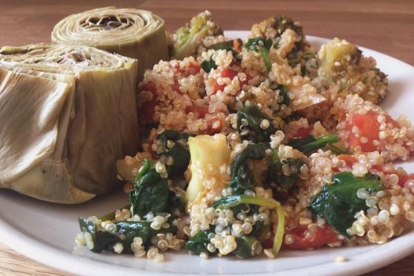 quinoa-verduras-alcachofas-hungerburguer