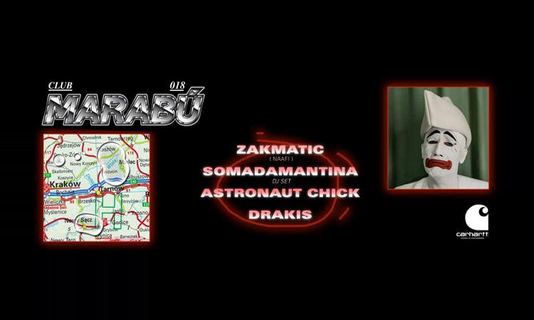 Somadamantina y Zakmatic encabezan el cartel de Club Marabú