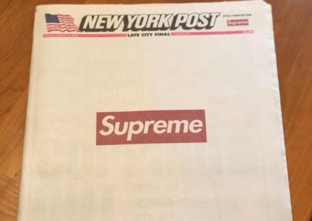 Supreme se apodera del New York Post de hoy