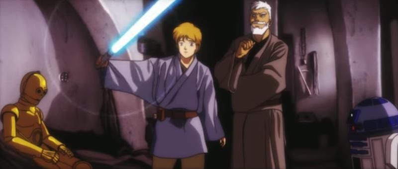"""Esta adaptación de """"Star Wars"""" en clave anime es todo lo que le pedimos a la vida"""
