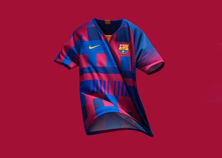 Nike celebra 20 años vistiendo al Barça con un cuadro de camiseta